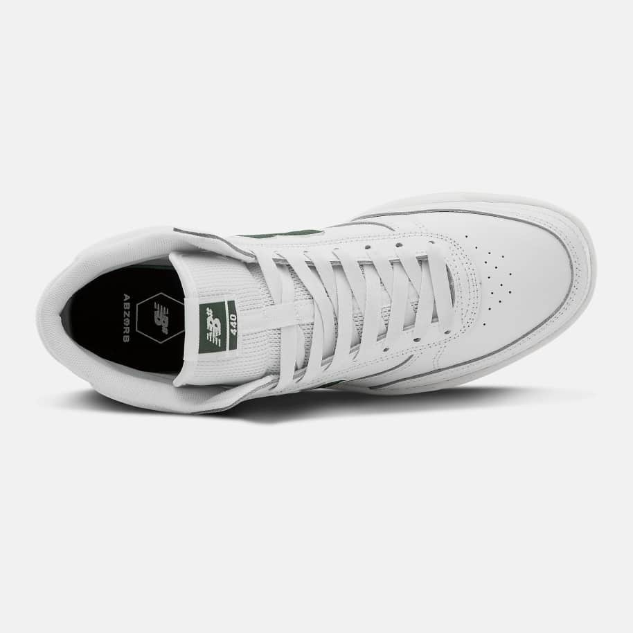 New Balance Numeric 440 High Shoes - White / Green | Shoes by New Balance 2