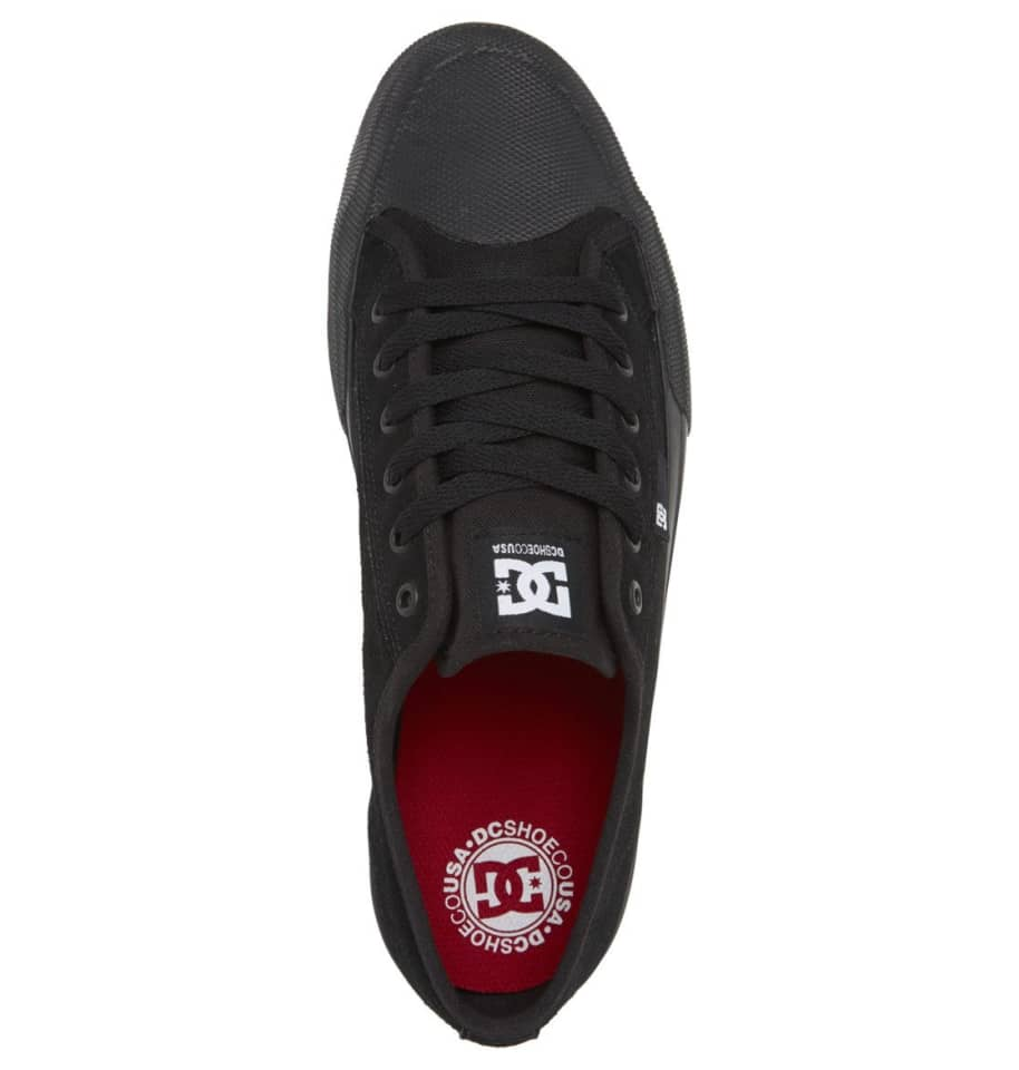 DC Manual S Suede Skate Shoes - Black | Shoes by DC Shoes 4