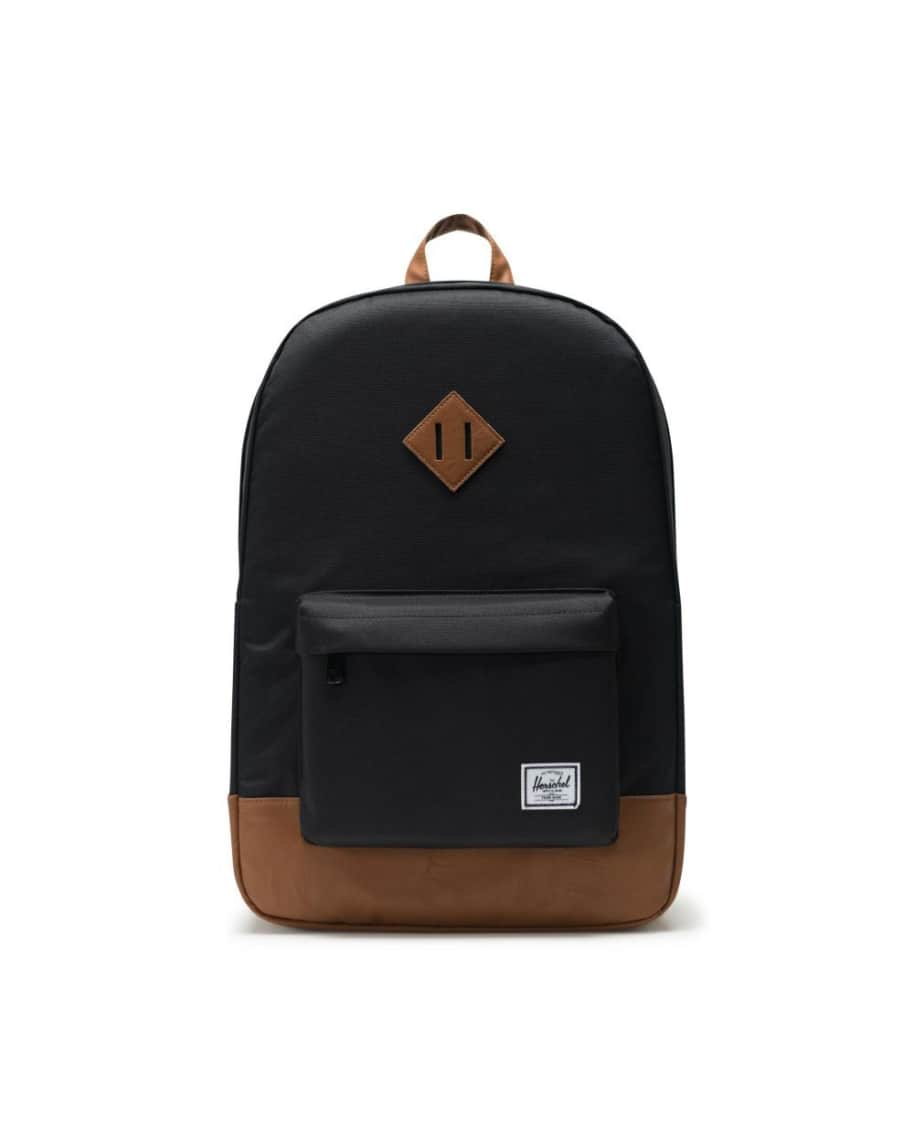 Herschel Heritage Backpack - Black/Tan Synthetic Leather   Backpack by Herschel Supply Co. 1
