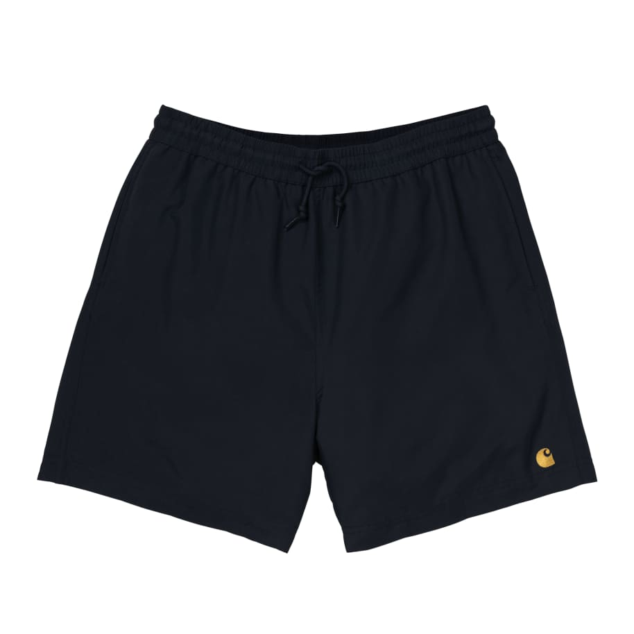 Carhartt WIP Chase Swim Trunks - Black / Gold | Shorts by Carhartt WIP 1