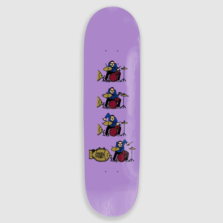 """Pass Port Skateboards - 8.125"""" What U Thought Drums Skateboard Deck 