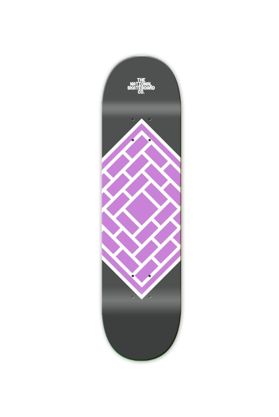 "The National Skateboard Co. Classic Purple Skateboard Deck - 7.5"" | Deck by The National Skateboard Co. 1"