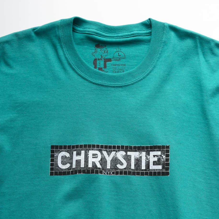 Chrystie NYC Station Logo T-Shirt - Jade Green | T-Shirt by Chrystie NYC 3