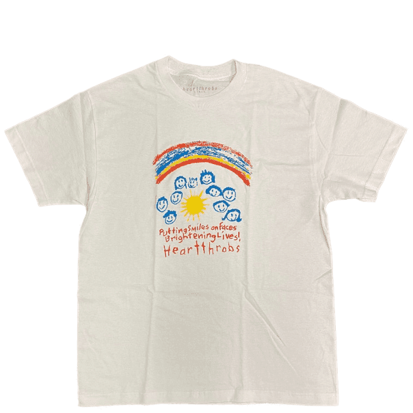 Heartthrobs Smiles And Faces T-Shirt - White | T-Shirt by Heartthrobs Skateboards 1