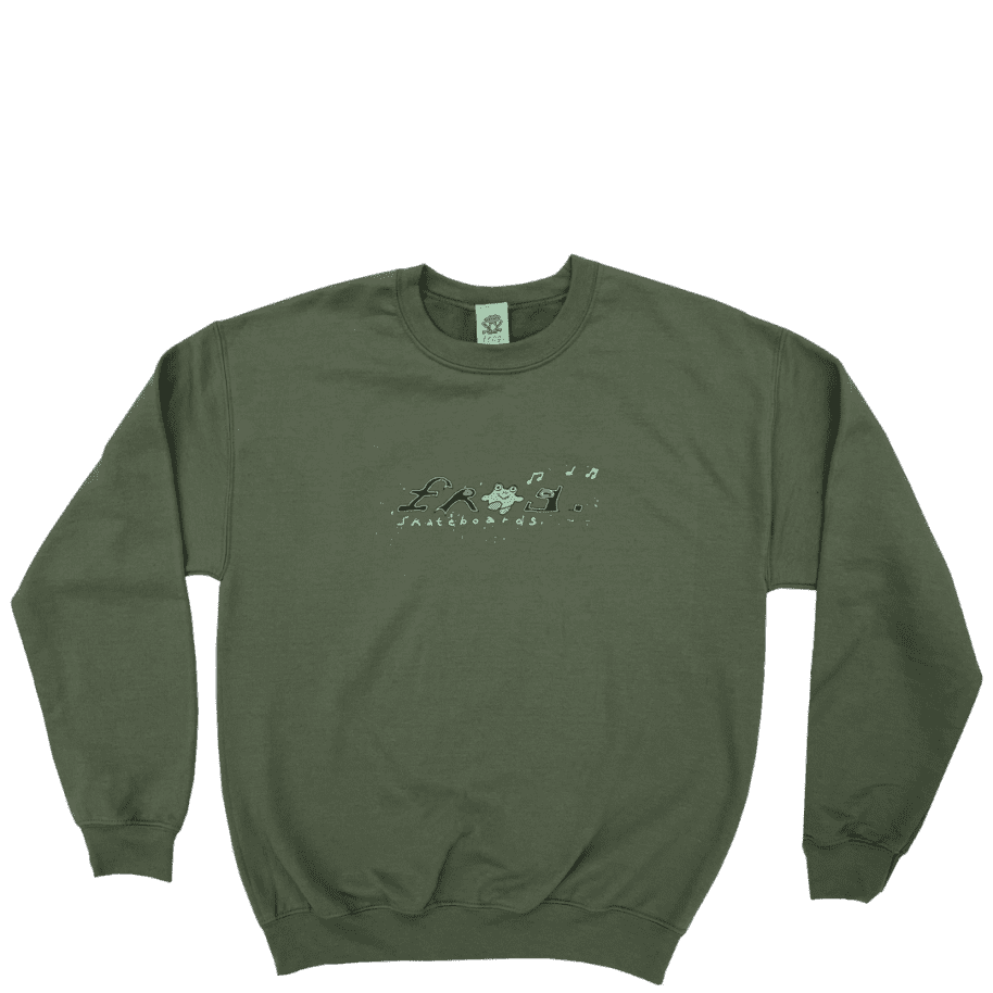 Frog Happy Frog Crew - Olive Green   Sweatshirt by Frog Skateboards 1