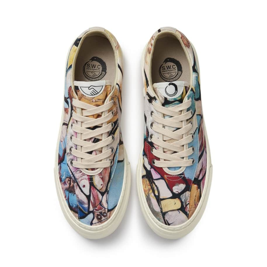 Stepney Workers Club x Endless Joy Dellow Mens Canvas Shoes - Cracked Earth | Shoes by Stepney Workers Club 3