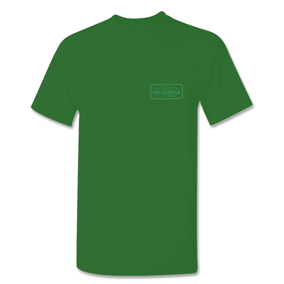 No-Comply Locally Grown Shirt - Forest Green Emerald | T-Shirt by No Comply 2