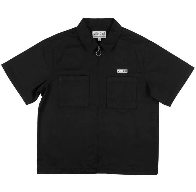 Welcome - Bapholit Zip Work Shirt (Black)   Shirt by Welcome Skateboards 1