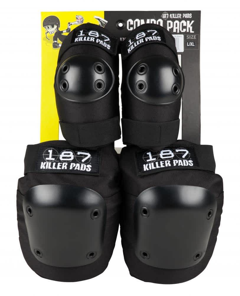 187 Killer Pads Combo Pack Knee & Elbow (black) L/XL | Pads by 187 Killer Pads 1