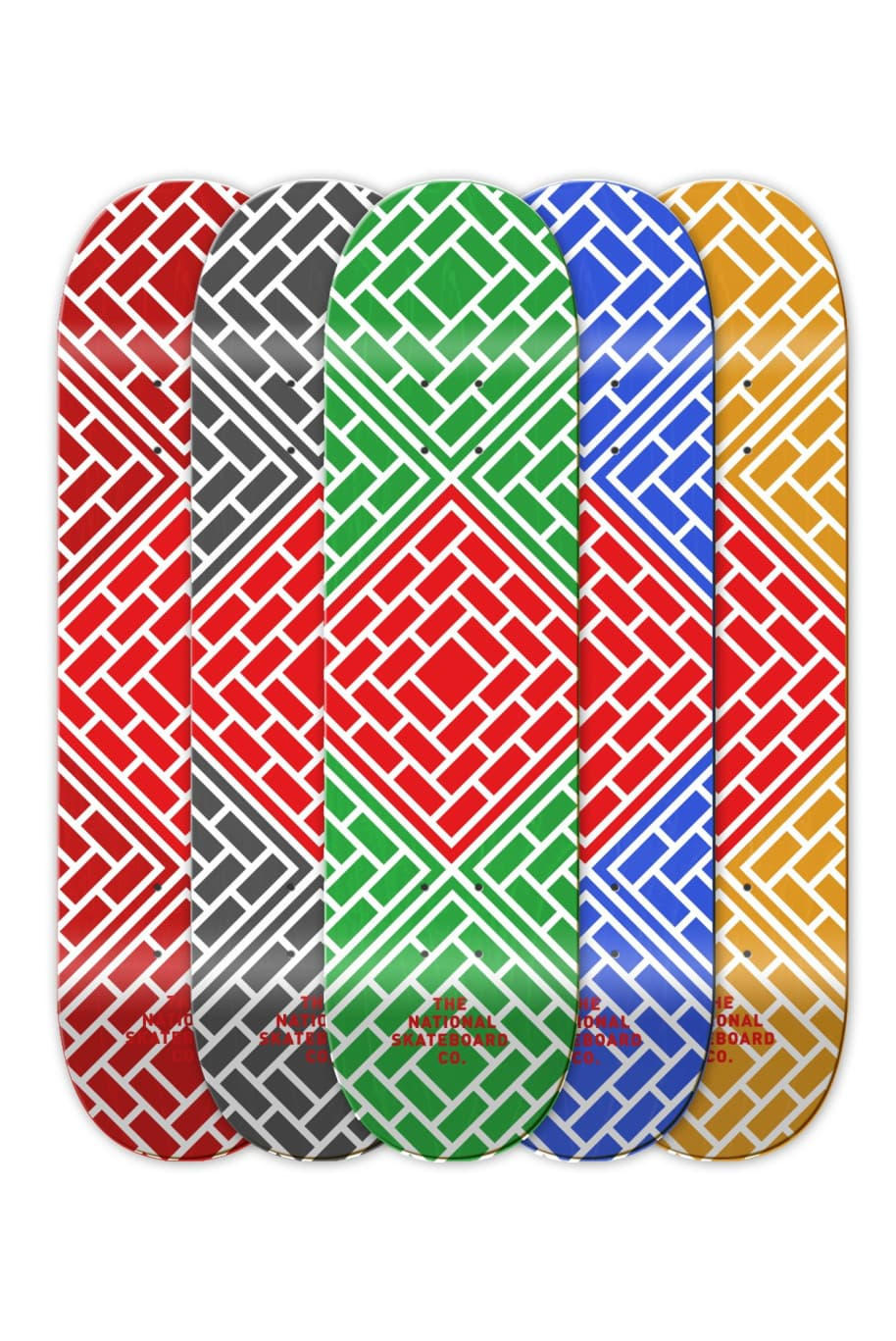 """CLASSIC RED - 7.75/8.25""""   Deck by The National Skateboard Co. 1"""