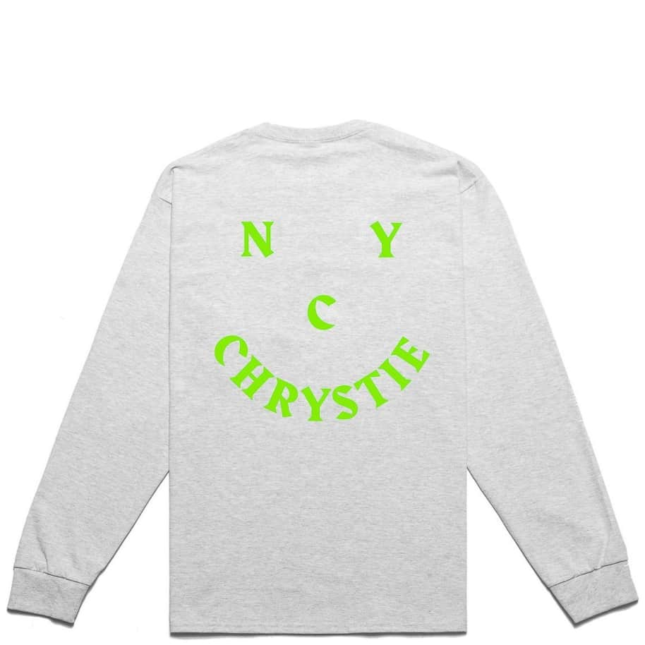 Chrystie NYC Smile Logo Long Sleeve T-Shirt - Ash Grey   Longsleeve by Chrystie NYC 1
