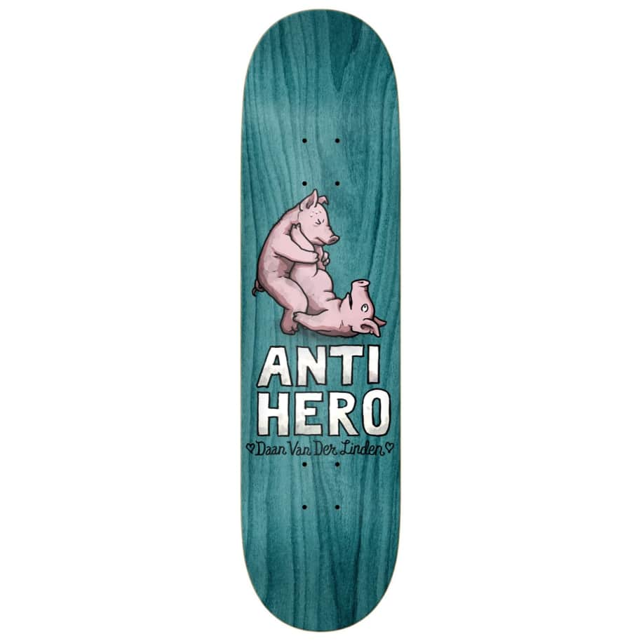 "Anti Hero Skateboards - 8.38"" Daan Van Der Linden Lovers II Skateboard Deck - Various Wood Stains 