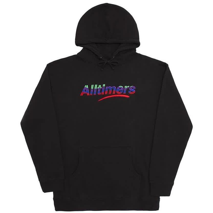 Alltimers Embroidered Wave Estate Hoodie - Black   Hoodie by Alltimers 1