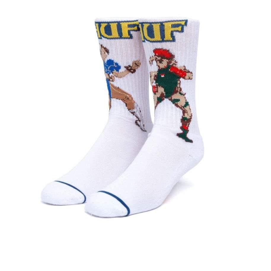 HUF - HUF x Street Fighter Chum-Li and Cammy Socks   White   Socks by HUF 1