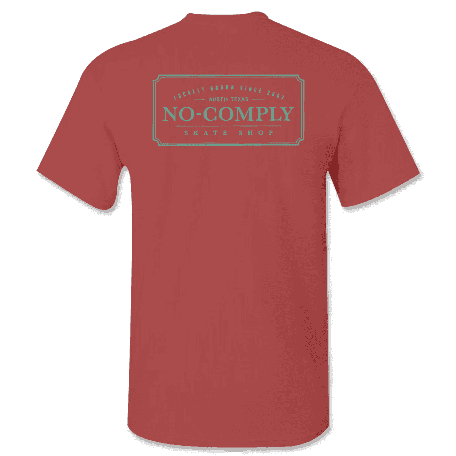 No-Comply Locally Grown Shirt - Cardinal Emerald | T-Shirt by No Comply 1