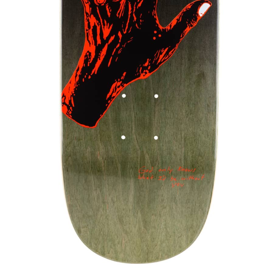 """Welcome Gateway on Son of Moontrimmer Olive / Coral Skateboard Deck - 8.25"""" 