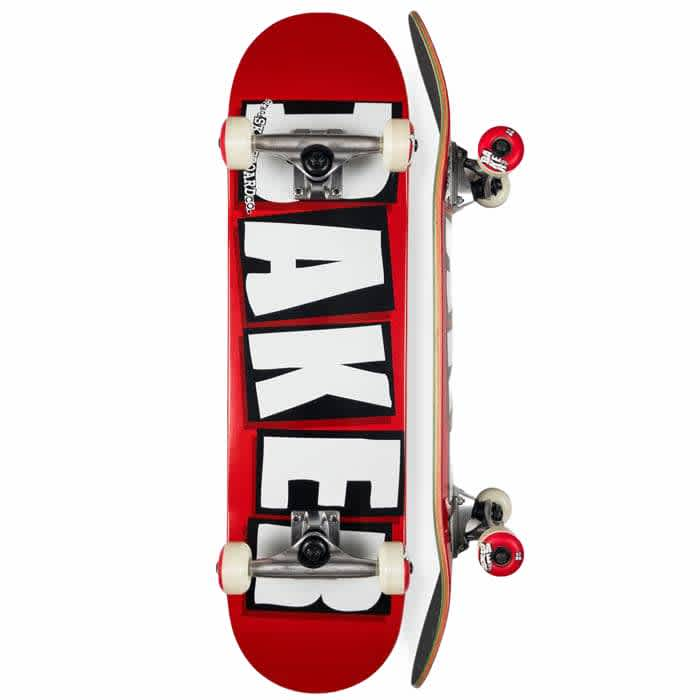 Baker Logo Complete Red / White 8"