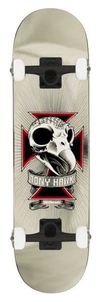 Birdhouse Tony Hawk Skull Complete Chrome 7.75 | Complete Skateboard by Birdhouse 1