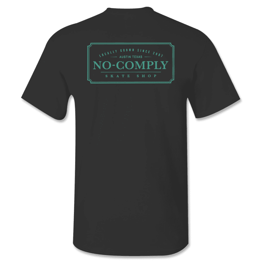 No-Comply Locally Grown Shirt - Black Emerald | T-Shirt by No Comply 1