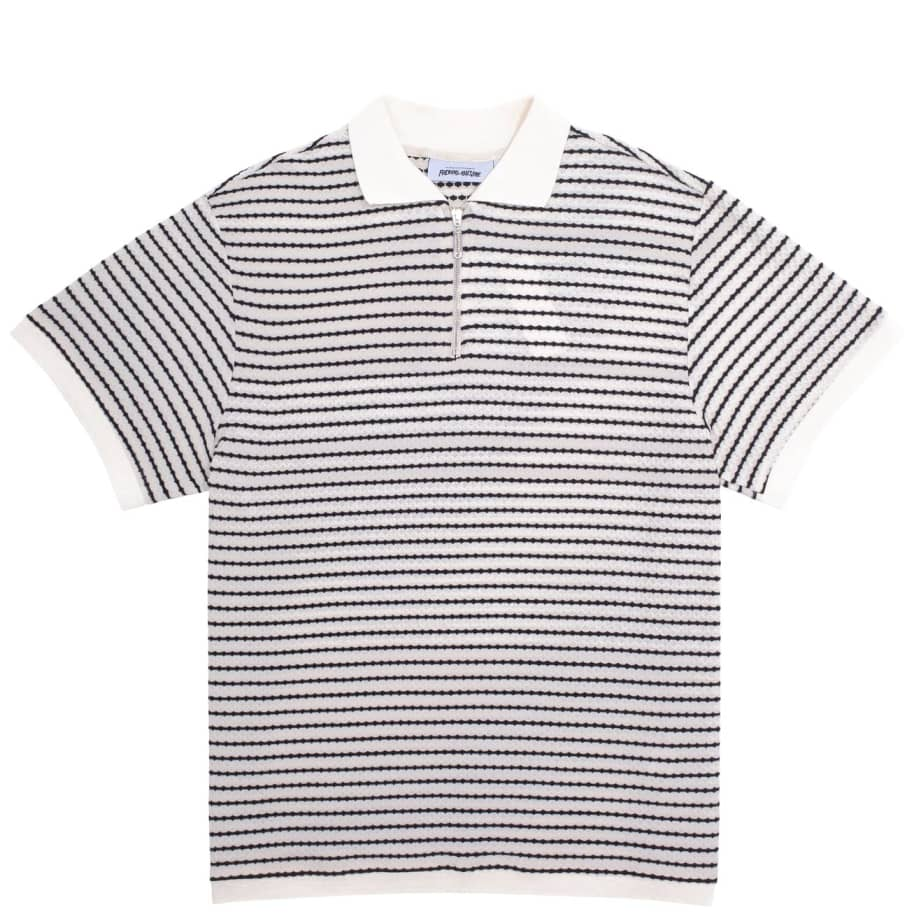 Fucking Awesome School Day 1/4 Zip Shirt - Black / White | Polo Shirt by Fucking Awesome 1