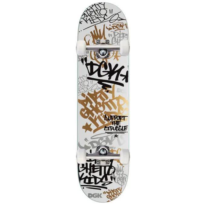 DGK Tag Complete (White/Gold)   Complete Skateboard by DGK 1