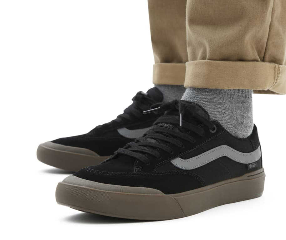 Vans Berle Pro Skate Shoes - Black / Dark Gum | Shoes by Vans 9