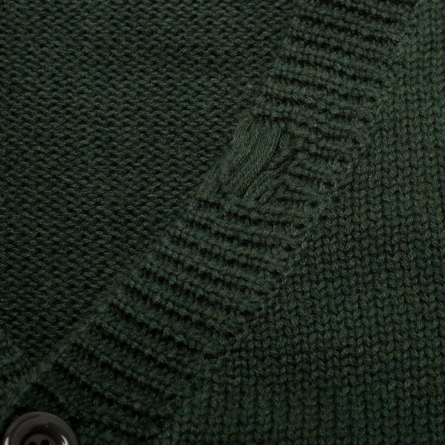 Fucking Awesome Distressed Flower Cardigan - Forest Green | Cardigan by Fucking Awesome 3