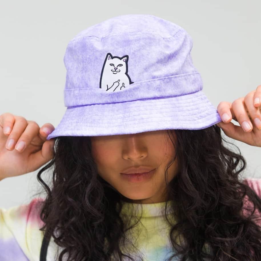 Ripndip Lord Nermal Bucket Hat - Lavender Mineral Wash | Bucket Hat by Ripndip 3