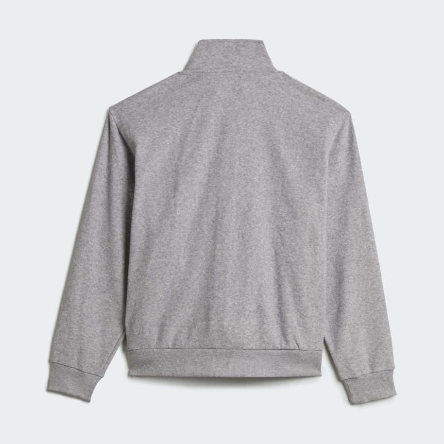 adidas Skateboarding Boucle Firebird Track Jacket - Medium Grey Heather / White | Track Jacket by adidas Skateboarding 2