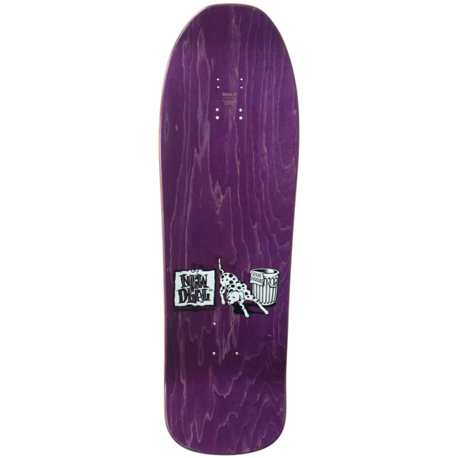 """New Deal Douglas Chums Reissue Screen Printed Deck 9.75"""" (Purple)   Deck by New Deal Skateboards 2"""