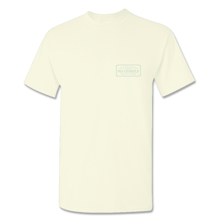 No-Comply Locally Grown Shirt - Cream Emerald | T-Shirt by No Comply 2