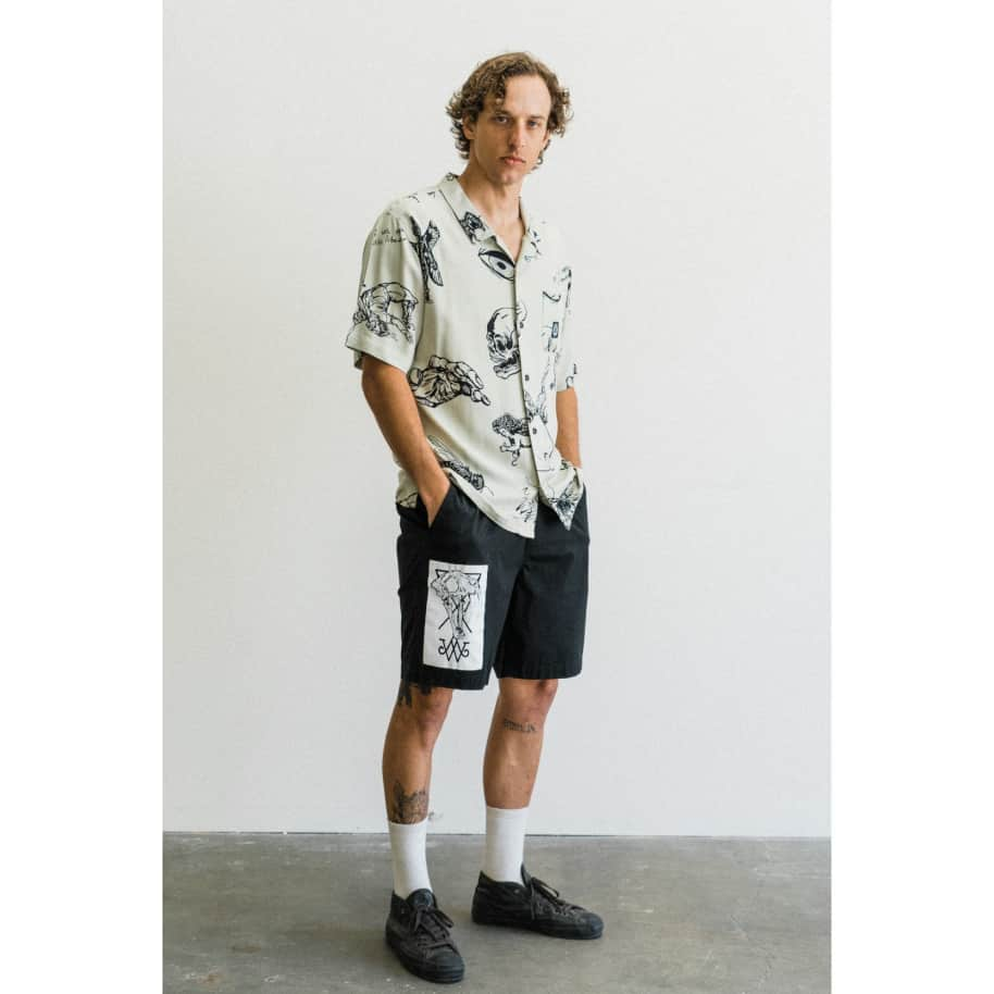 Welcome Ephemera 2 Rayon Button Down Shirt | Shirt by Welcome Skateboards 3