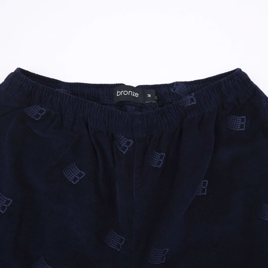 Bronze 56k Allover Embroidered Cord Pants - Navy | Trousers by Bronze 56k 3