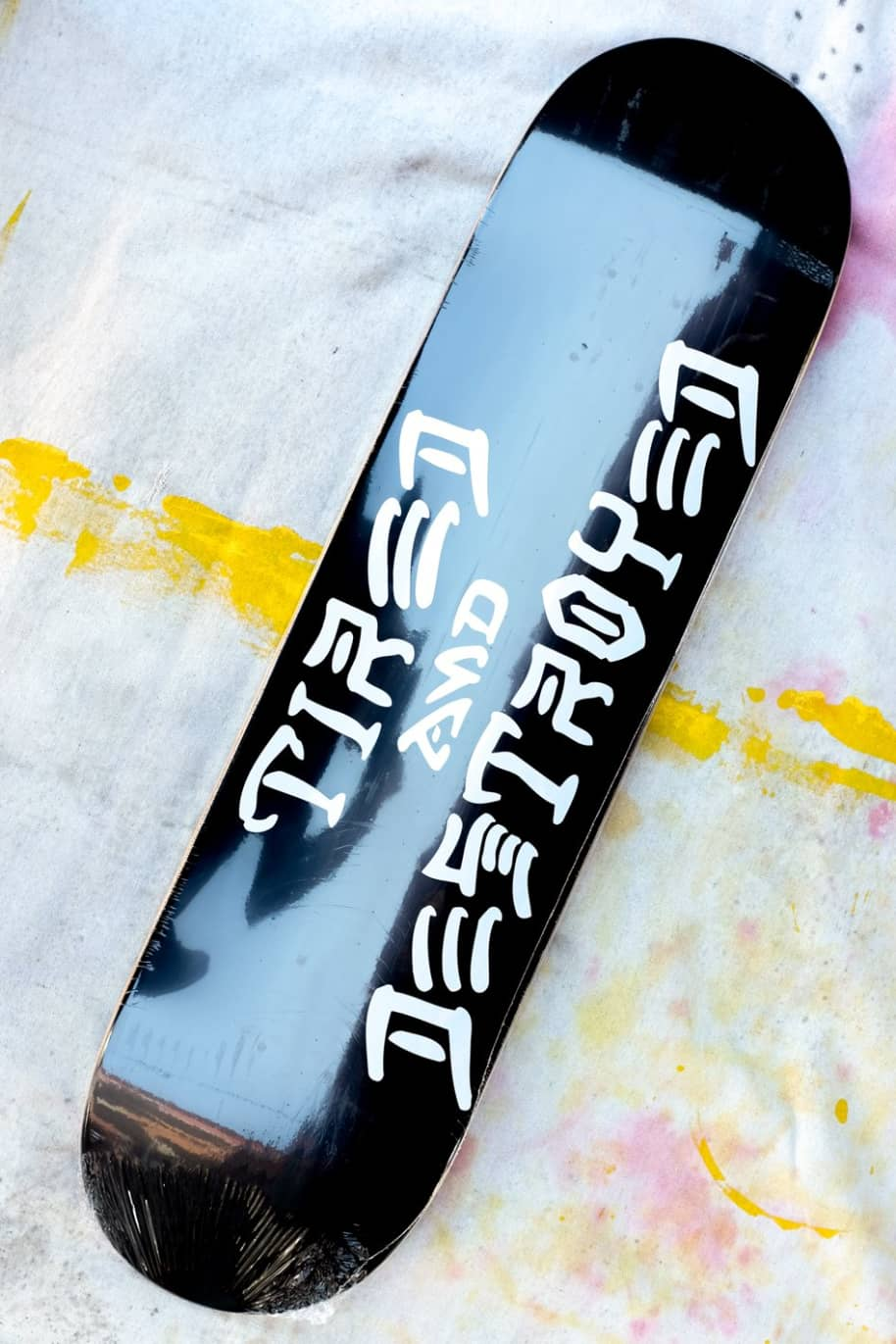 Tired and Destroyed Popcicle Skateboard - Black | Deck by Tired Skateboards 1