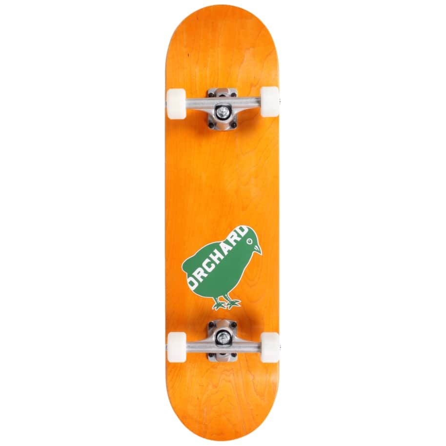Orchard Green Bird Logo Hybrid Complete 7.8 Yellow (With Free Skate Tool) | Complete Skateboard by Orchard 1