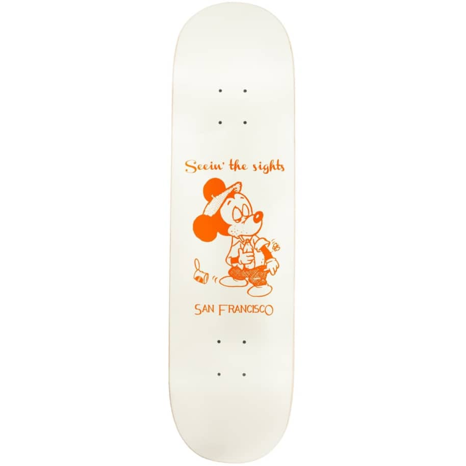 """Snack Skateboards Seein the sights deck - 8.125"""" Off-White/Cream   Deck by Snack 1"""