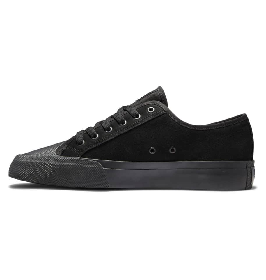 DC Manual S Suede Skate Shoes - Black | Shoes by DC Shoes 3