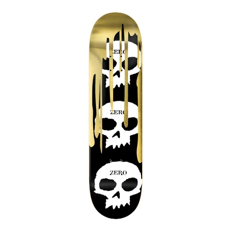 ZERO 3 SKULL BLOOD DECK- GOLD FOIL 8.0"