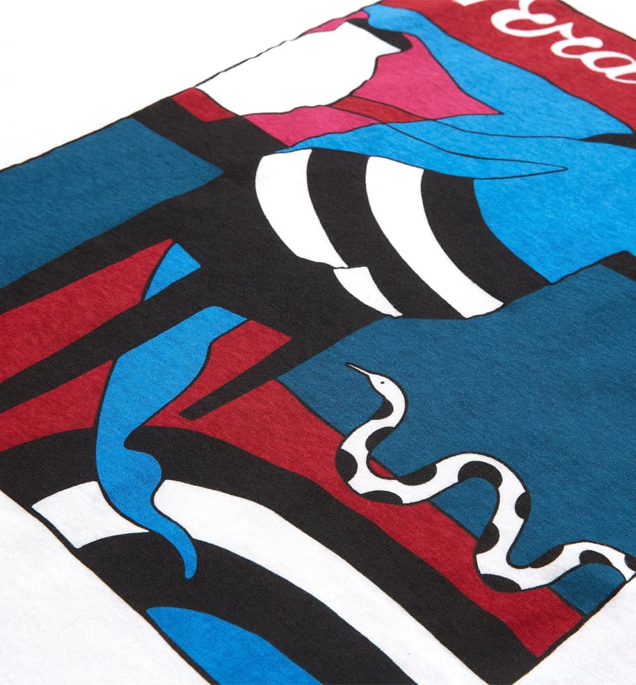 by Parra Bar Messy T-Shirt - White   T-Shirt by by Parra 2