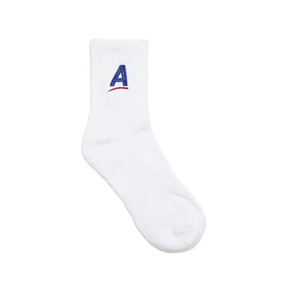 Alltimers Embroidered Estate Socks - White   Socks by Alltimers 1