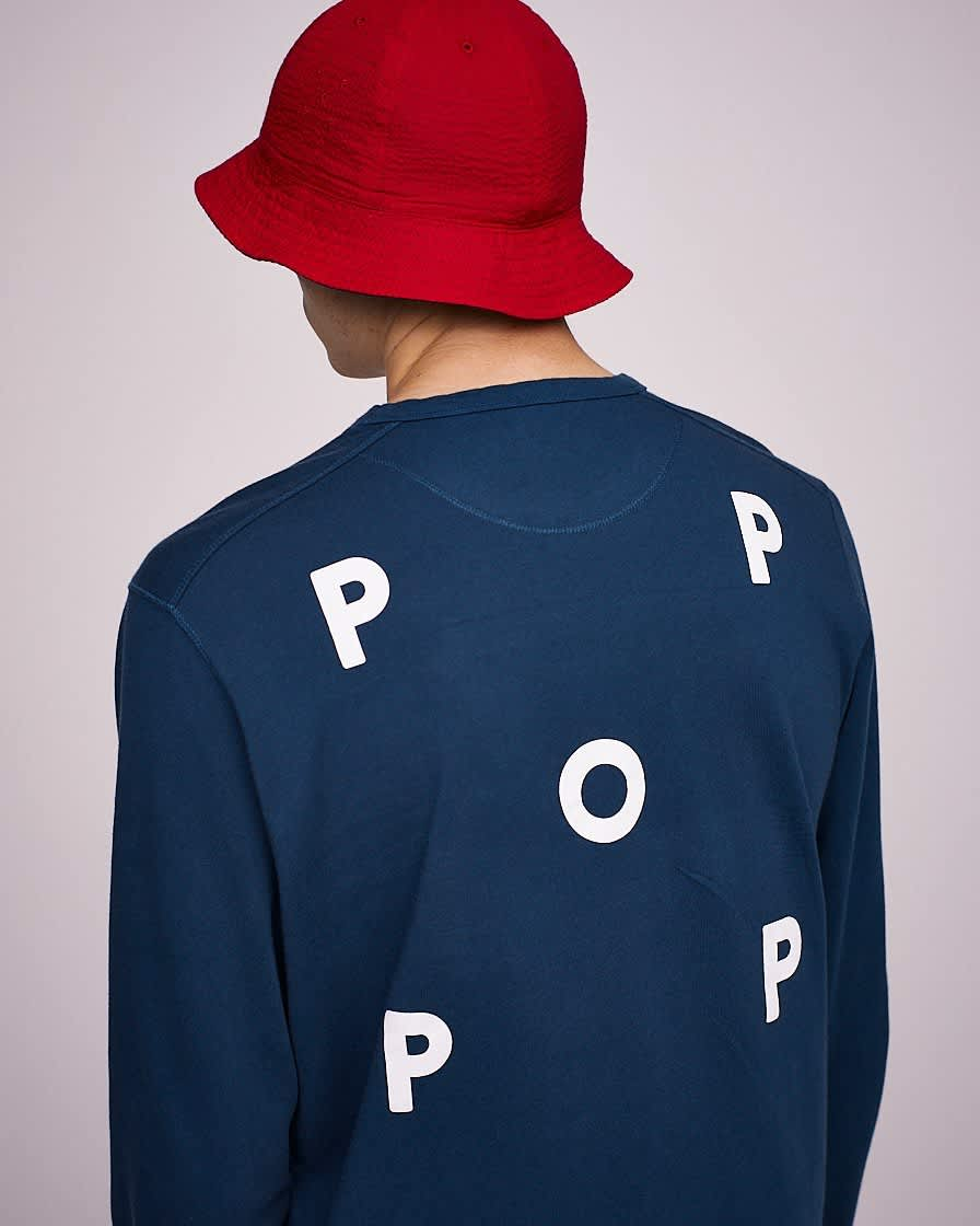 Pop Trading Company Reversible Bell Hat - Navy / Red | Bucket Hat by Pop Trading Company 3