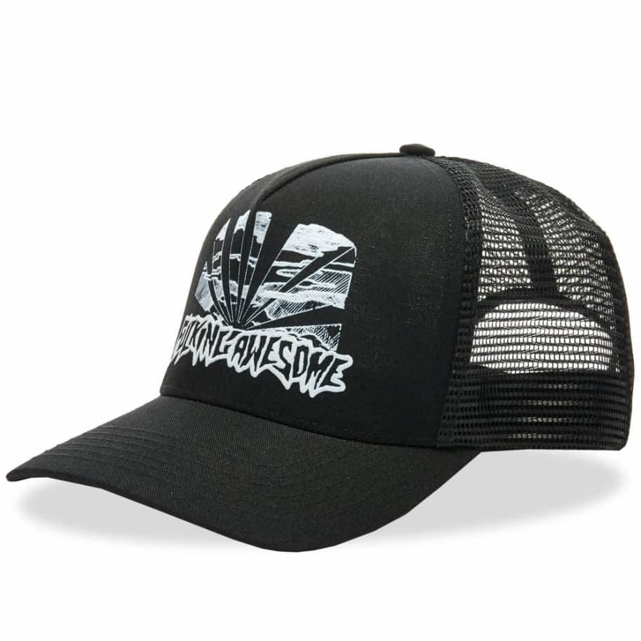 Fucking Awesome Sunset Pre-Curved Snapback - Black | Trucker Cap by Fucking Awesome 1