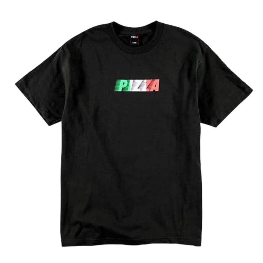 PIZZA SPEEDY TEE BLACK | T-Shirt by Pizza Skateboards 1