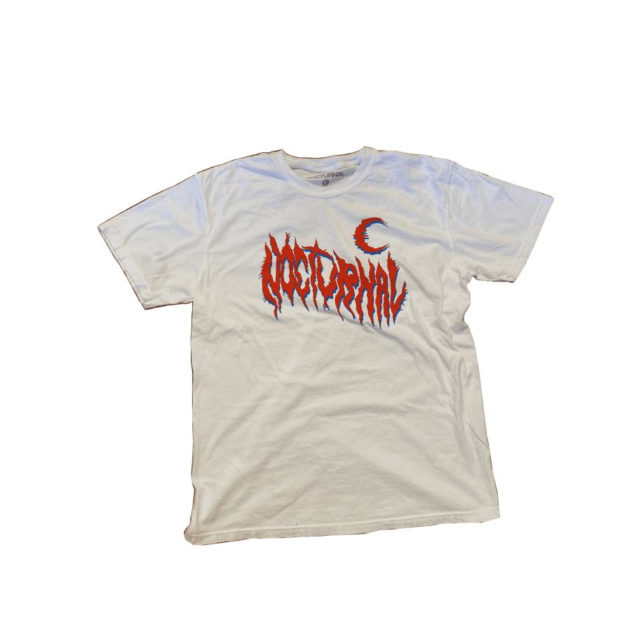 Nocturnal Metal Logo Tee (White) | T-Shirt by nocturnal 1