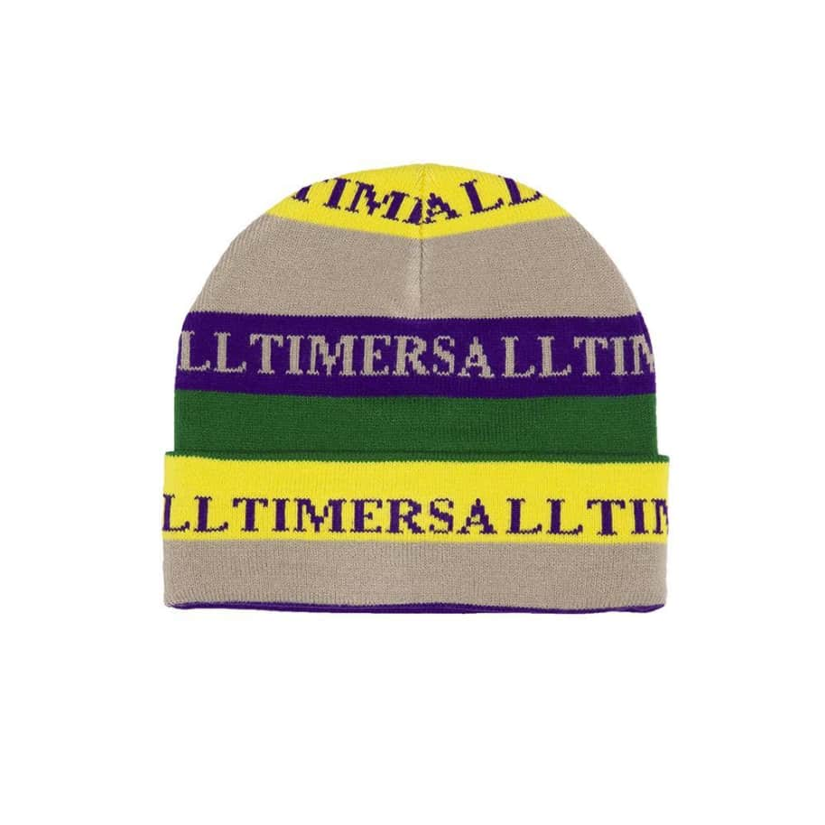 Alltimers Lewis Beanie - Grey / Yellow / Royal   Beanie by Alltimers 1