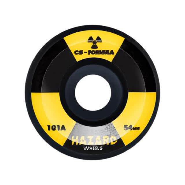 Hazard Wheels Radio Active Conical Black 54mm 101a   Wheels by Madness Skateboards 1