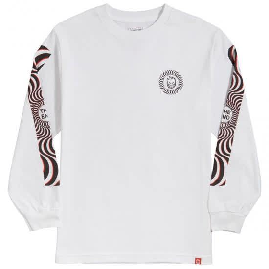 Spitfire Classic Swirl Overlay Long Sleeve Shirt (White/Black/Red) | Longsleeve by Spitfire Wheels 1