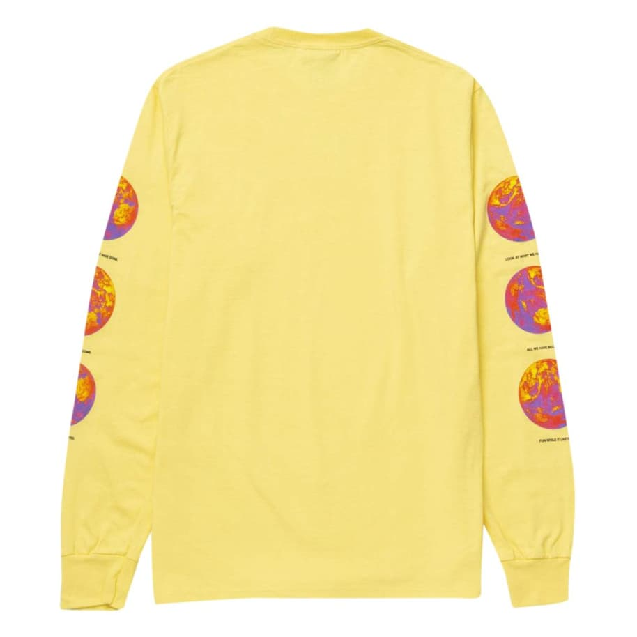 Climate Meltdown Long Sleeve T-Shirt - Yellow | Longsleeve by HUF 2