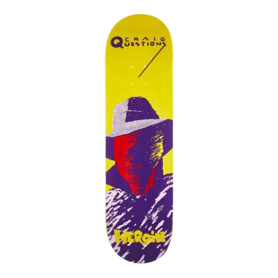"""Heroin Questions Giallo Deck 8.75""""   Deck by Heroin Skateboards 1"""