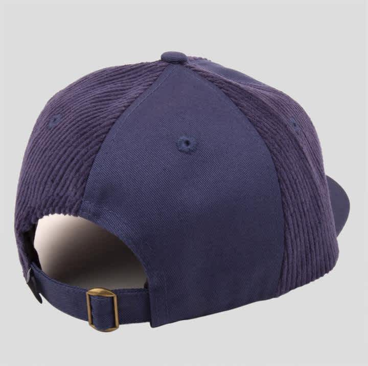 Pass~Port Cord Patch 6 Panel Cap - Navy | Baseball Cap by Pass~Port Skateboards 3